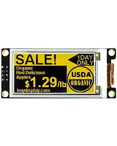 2.13英寸电子墨水屏白底黄字212x104分辨率可配套ARDUINO和树莓派