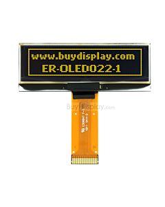 黄色2.2寸OLED显示屏/显示模块/12832/128x32点阵/并串口