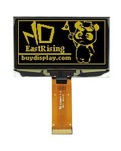 2.4寸黄色OLED显示屏/128x64点阵/并串口/可配触摸屏和连接器