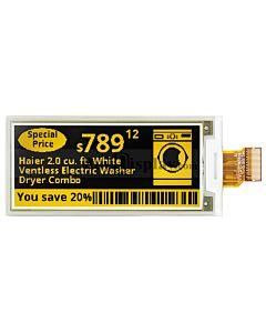 超薄2.9寸黑黄双色电子纸/E-Paper/E-Ink/128x296点阵/SSD1675A
