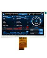 7寸TFT LCD彩色液晶显示屏/1024x600点阵彩屏模块/可配触摸屏/同AT070TNA2