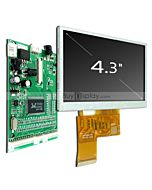 lcd 4.3 inch TFT Display Module 480x272,VGA,Video AV Driver Board