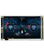5寸TFT LCD彩色液晶显示屏配RA8875控制板/配电容式触摸屏/并串口