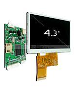 4.3寸TFT LCD彩色液晶显示模块配迷你HDMI驱动板