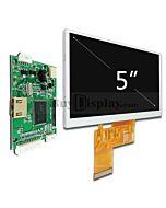 5寸480x272 TFT LCD彩色液晶显示模块配迷你HDMI驱动板