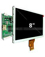 8寸TFT LCD彩色液晶显示模块配迷你HDMI驱动板/800x480分辨率