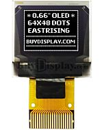 0.66 inch White 64x48 OLED Display Panel SPI ZIF Connector FPC SSD1306