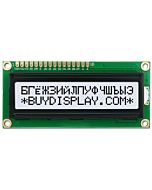 16x2 Russian-Cyrillic Character LCD Display,Black on White,3.3V-5V
