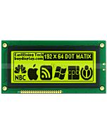 192x64 LCD Arduino Dot Matrix Display KS0107 KS0108,Black on YG