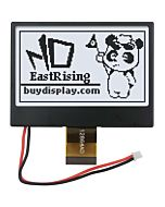 2.7 inch SPI 128x64 COG LCD Display with Bezel for EMC and ESD protection