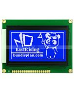 2.9 Display lcd 128x64 Graphic Module wKS0107+KS0108,White on Blue