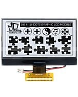 3.3 inch COG Display 240x128 Graphic LCD Module,UC1698,Black on White