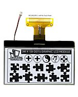 3 inch 240x120 Graphic Displays LCD Serial Interface,,Black on White