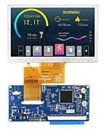 4.3 inch 800x480 IPS TFT LCD Module All Viewing OPTL  Display Optional TouchScreen