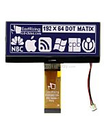 4.3 inch COG 192x64 Graphic LCD Modules Serial Displays,White on Black
