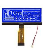 4.3 inch COG 240x64 Display Graphic LCD Module Pinout,UC1698,White on Blue
