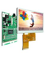 4.3 TFT LCD Display Module in 480x272,VGA,Video AV Driver Board