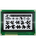 4.7 inch Graphics LCD Display 240x128 Module T6963,Black on White