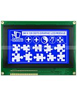 4.7 inch LCD 240x128 TouchScreen Graphic Module Display White on Blue
