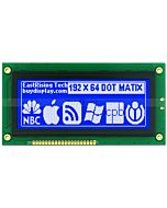 4 inch 192x64 Graphic LCD Display Module KS0107,KS0108,White on Blue