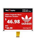 5.83 inch e-Ink 648x480 e-Paper Display Panel Red White Black SPI