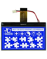 Blue 3 inch Graphic LCD 240x120 with Touch Panel COG Display Module