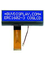 COG LCD Display 2x16 Character Module,FPC Connection,White on Blue