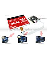 Red 5.83 inch e-Ink Display Arduino Shield,Library 648x480