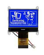 ERC12864FBF-4.10_ST7565 LCD 128x64 Touch Panel Tutorial,Code,Datasheet,Black on Blue