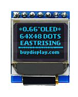 I2C Blue 0.66 inch OLED Display Module 64x48 Arduino,Raspberry Pi