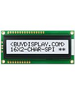 LCD Bezel 16x2 Serial Display 1602 Module Character,Black on White