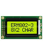 LCD Module 8x2 Characters Display with Black Bezel,Black on YG