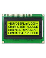 Low-Cost Yellow Black 1604 16x4 Charcter LCD Display Module