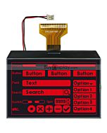 Serial 3.4 inch Graphic 240x160 LCD Display with Touch Panel,Red on Black
