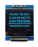 Serial SPI I2C Blue 0.66 inch Arduino,Raspberry Pi OLED Display 64x48