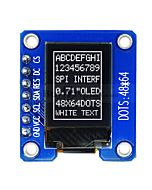 Serial SPI White 0.71 inch Arduino,Raspberry Pi OLED Display 48x64