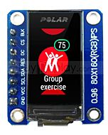 SPI TFT 0.96 LCD Display Module 160x80 IPS ST7735 with Breakout Board