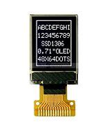 White Graphic 48x64 0.71 inch I2C IIC Serial OLED Display SSD1306
