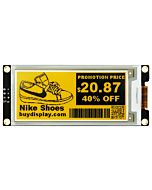 Yellow 2.9 inch e-Paper Display Module 296x128 for Arduino,Raspberry Pi